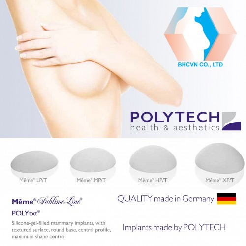 Polytech Meme Texture Breast Implant
